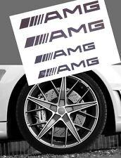 4Pcs Black HI TEMP Vinyl AMG Decal Sticker For Caliper Brake Two big and two sma