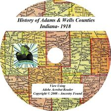 1918 History Genealogy ADAMS & WELLS County Indiana IN