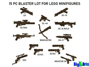 Custom Weapons for Lego Minifigures ww1-Pack of 6 Guns