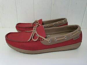 Womens Ladies Crocs Loafers boat shoes, 15753, Size 9, Pink