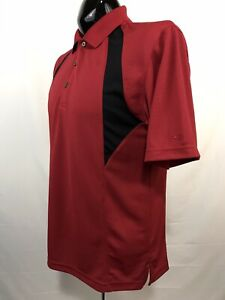 GRAND SLAM Mens Golf Polo Shirt Size M Red Performance Wicking Polyester S/S
