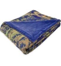 TRACY PORTER POETIC WANDERLUST Brianna PRINTED VELVET THROW Blanket PURPLE