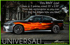 Real Flames Vinyl Wrap Skin Charger Challenger Camaro FRS BRZ Mustang Jeep Ram