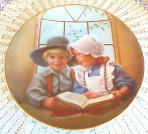 Sandra Kuck LITTLE TUTOR 5th Issue In Days Gone By Series Collector Plate MINT