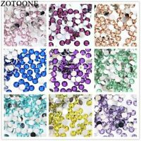 2-6mm 1000Pcs Colorful Resin Flat Back Sew On Rhinestone Trim Stickers Accessori