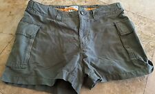 ABERCROMBIE & FITCH F-74 SHORTS SIZE 0 WAIST 29 Army Green adjustable waist