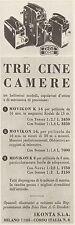 Z3349 Cine Camere Movikon Zeiss Ikon - Pubblicità d'epoca - 1940 Vintage advert
