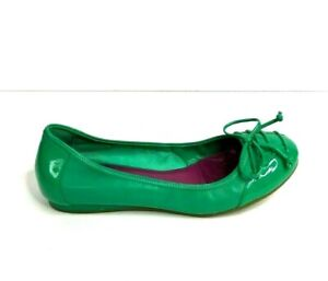 Cole Haan 8.5 Flats Air Soles Green Patent Leather Trim Slip On Comfort