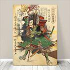 "Vintage Japanese SAMURAI Warrior Art CANVAS PRINT 8x12""~ Kuniyoshi Hero #217"