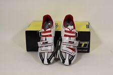 DMT Impact Men's Carbon Road Cycling Shoes Wht/Sil/Rd Eu 41 or US 8