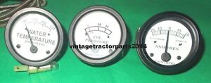 John Deere B gauges : Oil, Amp, Water Temperature Gauge Set