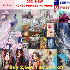 Paint By Numbers kit from Australia DIY Paint on Canvas Frameless Flower Animal
