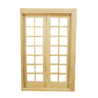 1/12 Dollhouse Miniature DIY fitment Material Classic French Door G4S6 J2B6