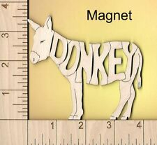 Donkey Mule laser cut and engraved wood Magnet Great Gift Idea