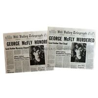 BACK TO THE FUTURE Newspapers Prop Replicas George McFly  15x21 in. US - 1985 -