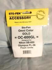 Sto-Fen Omni-Bounce OC-600GL Gold Diffuser fits Olympus FL-36 Flash Stofen