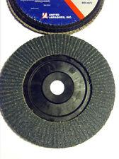 "SAIT / UNITED ABRASIVES., 6 1/2 "" X 7/8"". 60 GRIT ZIRCONIA FLAP DISC TYPE 27"