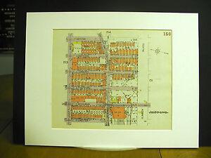 Brooklyn Map 1929 Matted CHESTER LOTT STONE LINDEN BLVD. THATFORD OSBORN WATKINS