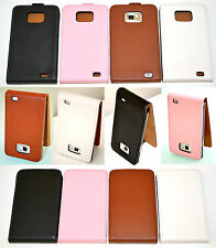 Real Leather Classic Flip Style Case Cover Skin for Samsung Galaxy S2 i9100