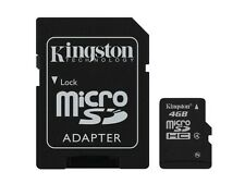 KINGSTON MICRO SD MICRO SDHC C4 4GB 4G 4 G CLASS 4 FLASH MEMORY CARD NEW