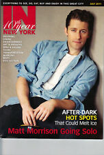 Matthew Morrison In New York cover Glee NYC July 2011 Finding Neverland star
