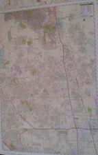 The Woodlands TX Laminated Wall Map (R)