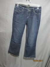 Seven7 women's sz 29 flare distressed blue denim jeans inseam 28