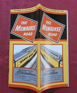 1959 MILWAUKEE ROAD SUPER-DOME HIAWATHA RAILROAD CHICAGO ST PAUL TRAIN SCHEDULE