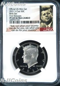 2021 S Proof Kennedy Half Dollar 50c NGC PF69 Ultra CAMEO FR BIRTH SET Version