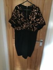 Little Mistress Dress, Black With Gold Sequins