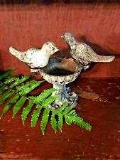 Vintage Miniature Cast Iron Bird Bath