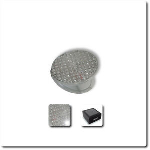 Nero Round Diamond Incrusted Compact Mirror