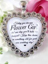 Flower Girl Bouquet Charm In Sparkling Diamantés Wedding Gift Accessories