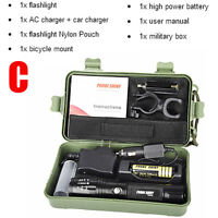 G700 8000 Lumens X800 CREE XM-L2 T6 LED Zoom Tactical Military Flashlight Torch