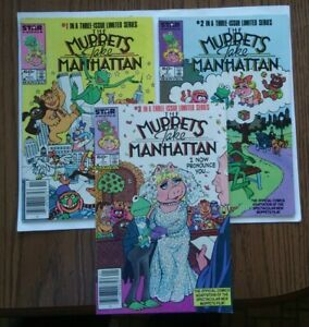 The Muppets Take Manhattan lot of 3 (#1-3)