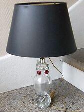 Lampe Chouette Hibou en Cristal Années 60