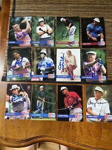 12–1992 Pro Set autographed golf cards