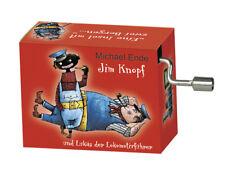 Spieluhr/ Drehorgel Jim Knopf und Lukas der Lokomotivführer - Lummerlandlied rot