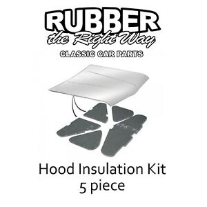 1969 1970 Ford Galaxie Hood Insulation Kit - 5 pc.