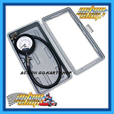 GO KART 65MM TYRE PRESSURE GAUGE ANALOGUE DIAL 0-40 PSI CARRY CASE NEW FREE DEL.