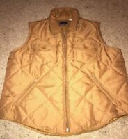 Roper Brown Zip Vest Womens Size Medium Puffer  Polyester Western