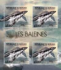 PYGMY RIGHT WHALE Marine Life Stamp Sheet #3 of 7 (2012 Burundi)