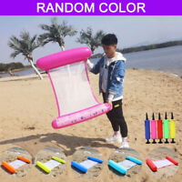 Swimming Inflatable Floating Float Water Hammock Pool Lounge Bed Chair Summer##