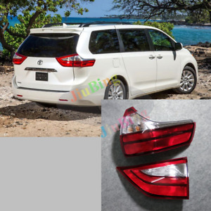 2Pcs  Rear Right Tail Lamp Brake Light Taillight For Toyota Sienna 2015-2017 h