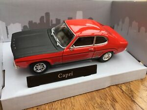 CARARAMA 251XND-1 FORD CAPRI Mk.1 model road car red body black bonnet 1:43rd