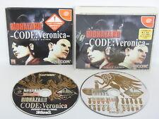 BIOHAZARD Resident Evil CODE VERONICA No Outer Case /C Dreamcast Sega Japan dc