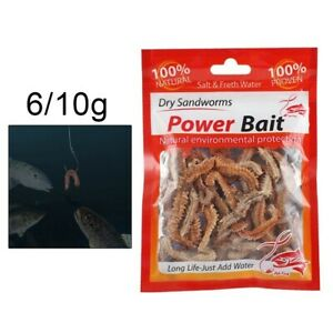 Dry Dry Sandworm Fishy Live Lure Natural Sandworm Smell 6/10g Bait Reliable