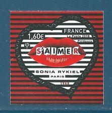 Timbre Y&T n°???? Coeur Sonia Rykiel 1,60€ autoadhésif neuf** (issu de feuille)