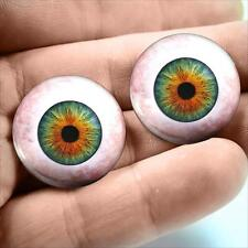 18mm Hazel Green Human Eyeballs Magic Fantasy Fairy Glass Doll Taxidermy Eye Set