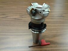 2 12 45 Degree Indexable Face Shell Mill Cat40 Arbor Face Milling Cutter New